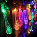 20 LED Water Drop Solar Powered String Lights  LED Fairy Light for Christmas Wedding Party Festival Outdoor Indoor Decoration