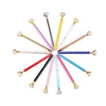 GENKKY New Crystal Ballpoint Pen Fashion Girl 19 Carat Large Diamond Metal Pen Material Escolar Bolis Escolares Kawaii Novelty
