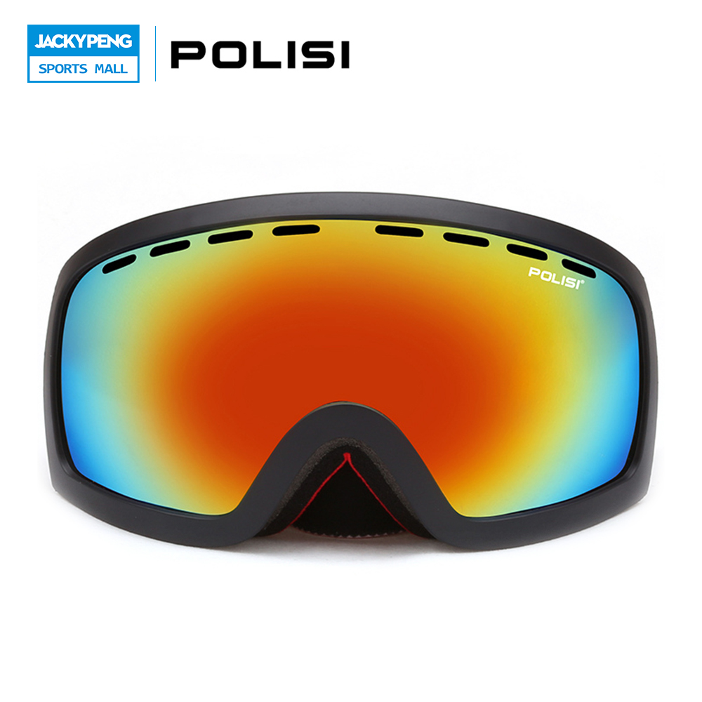 Prix pour POLISI Hiver Hommes Femmes Snowboard Patinage Ski Lunettes UV Protection Anti-Brouillard Motoneige Motocross Lunettes de Ski Lunettes