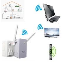Nuevo 300 Mbps WiFi Repetidor Red Range Extender Booster N300 Solo Aumento Dos Antenas Externas de LA UE EE.UU. Plug