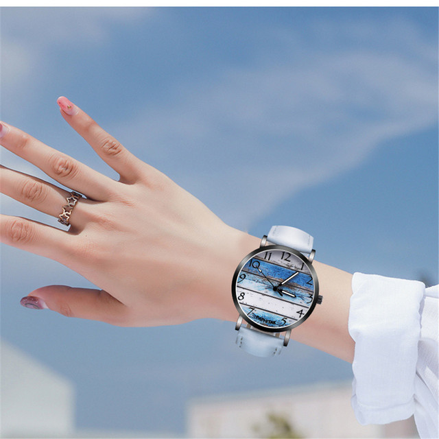 Fashion Couple Retro Bird Design Leather Band Analog Alloy Quartz Wrist Watch re