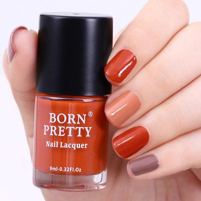 9ml BORN PRETTY Nail Polish Pumpkin Gray Series Long lasting Nail ...