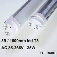 T8 SMD2835 5ft 150 см 25 Вт белая флуоресцентная Белый светодиодный свет лампы труба AC85-265V