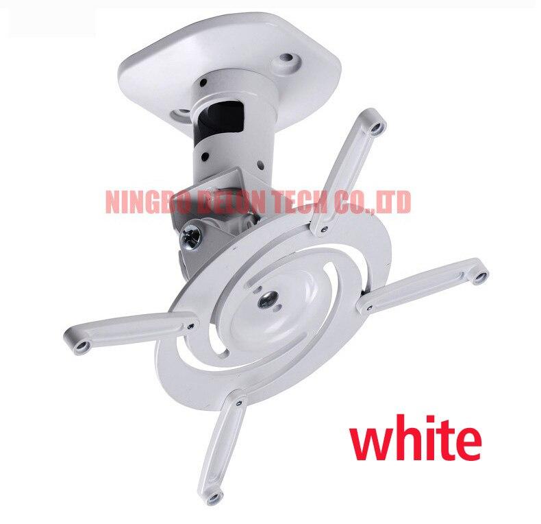 D-mount 13,6 кг Универсальный Полный motion наклона вращающийся алюминиевый проектор потолочный кронштейн стеллаж для выставки товаров - Цвет: white