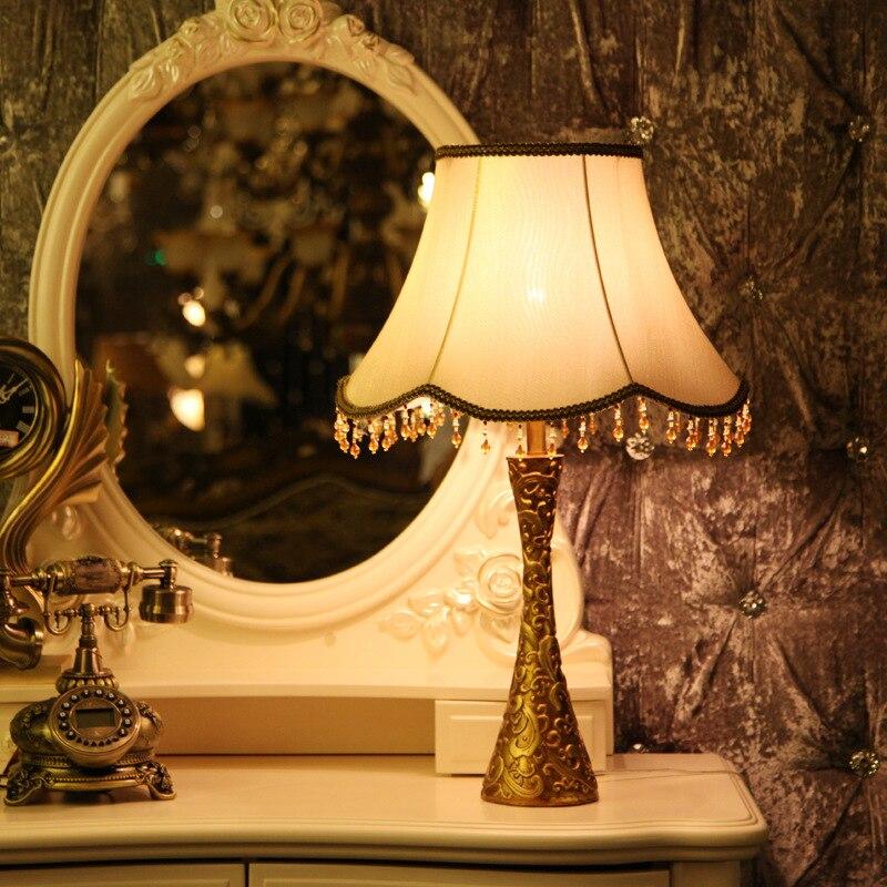 Туда 40X65 см Бесплатная доставка Европейский Стиль Смола настольные лампы для Спальня ночники Гостиная творческий светодиодный Таблица лам...