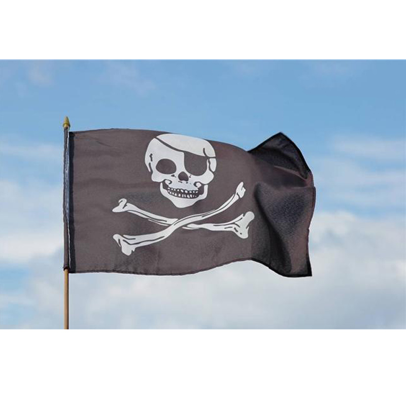 Large Pirate Flag 3x5FT Vikings Skull Events Flags And Banners Parade Banner Drapeau Flags Black Skeleton Polyester Printed