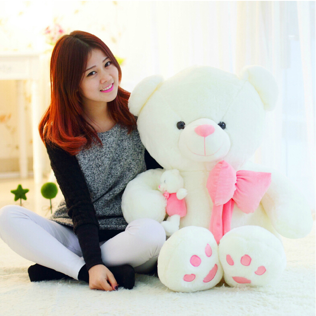02d9c419b7d 50cm Teddy Bear Plush Toy Big Embrace Bear Mother and Baby Bear Doll  Lovers Christmas