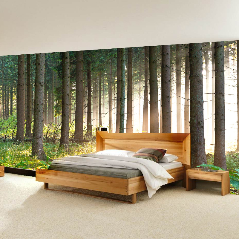 beibehang 3D Wallpaper Nature trees forest living room wallpaper papel de parede para quarto papel de parede para quarto beibehang beautiful rose sea living room 3d flooring tiles papel de parede para quarto photo wall mural wallpaper roll walls 3d