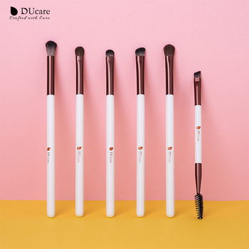 DUcare Makeup Brushes 6/7PCS Eye Makeup Brush Set Eyeshadow Blending Eyebrow Brush Natural Hair Cosmetic Tools Kit Essential 1