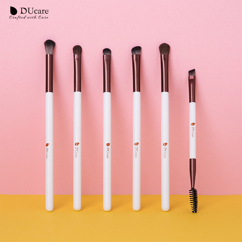 DUCARE 6 to 7PCS Eye Makeup Brush Set for Blending Eye Shadow Eyebrow Powder and Eyeliner 1