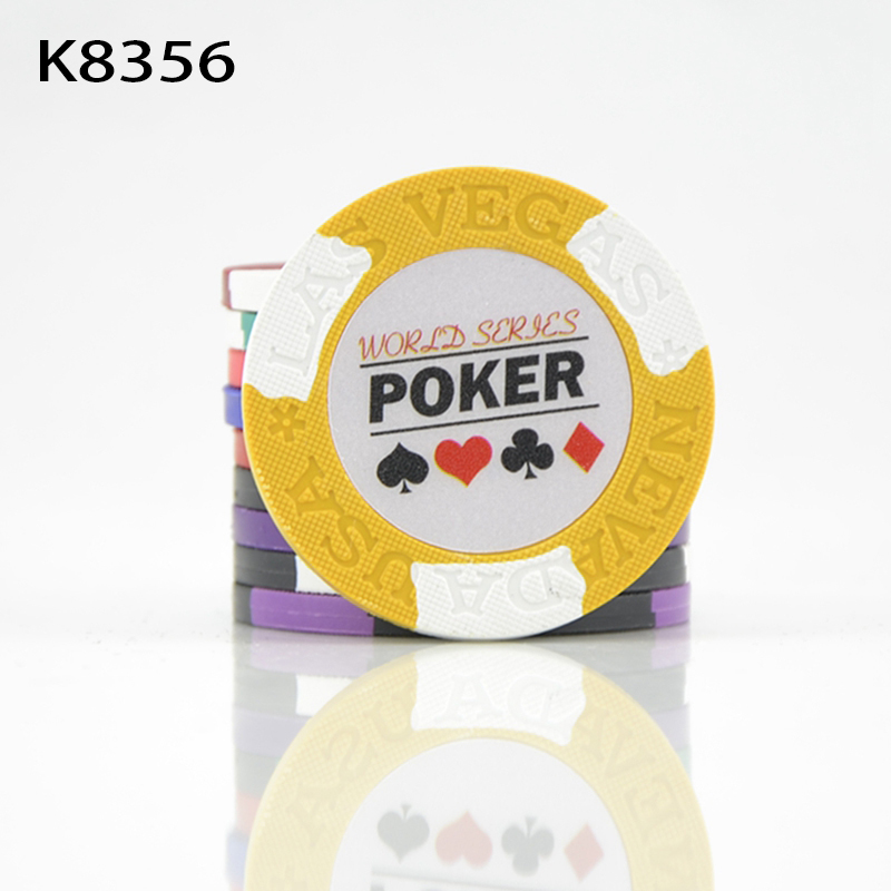 10Pcs High quality Poker chips 14g Clay+Iron+ABS Casino chips Texas Holdem Poker Wholesale <font><b>LasVegas</b></font> Poker chips K8356 image