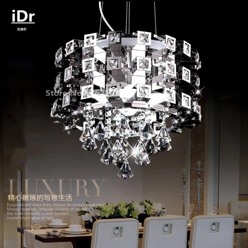 stainless steel Creative chandelier restaurant lighting dining room lights bar LED table iDr 0107