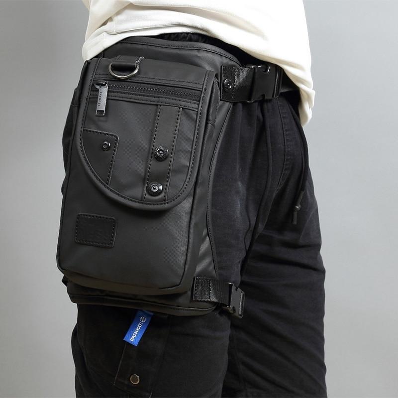 Men Waist Pack Waterproof Nylon/Canvas Messenger Shoulder Bags CrossBody Motorcycle Rider Bum Hip Belt Purse Fanny Drop Leg Bags