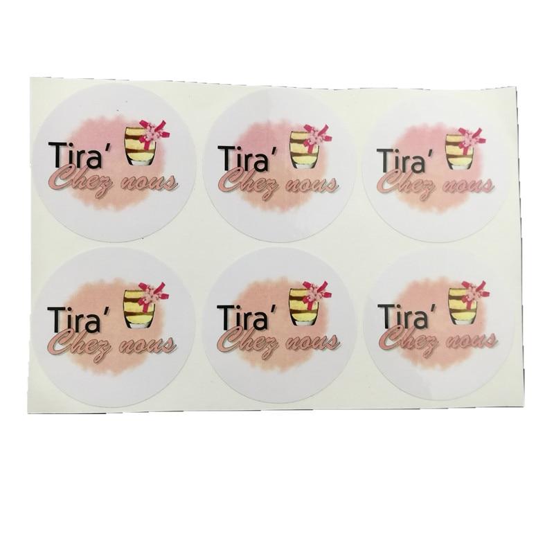 Kraft Sticker Eyelashes Logo Clear Personalised-Name Customize Transparent 100pcs 30mm