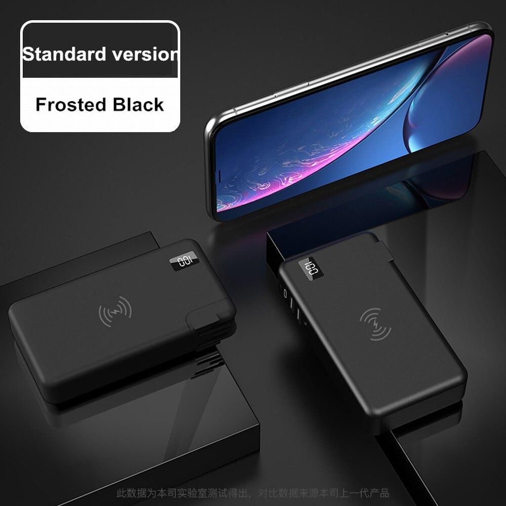 Qi Sans Fil chargeur pour samsung Galaxy S8/S9 Plus/S7/S7 bord note 8 PowerBank 10000 mAh Portable QC3.0 PD Type-C Voyage Chargeing - 6