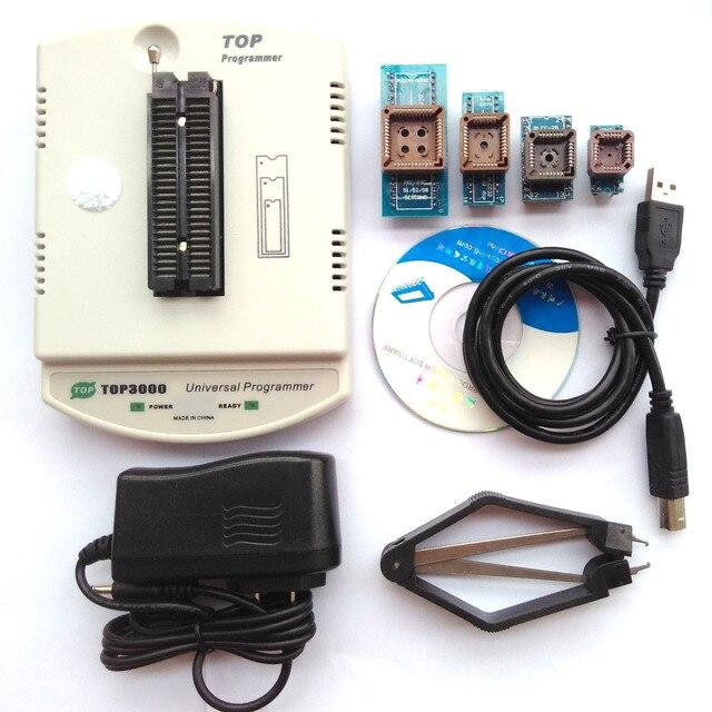 新しい TOP3000 + 4 アダプタ USB ユニバーサルプログラマ、 eprom マイコン PIC AVR PLCC 44 Scoket