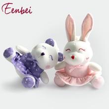 Baby Rattle Leksaker Nanny Car Hängande Bed Hängande Plush Toy Inbyggd Kedjemusik Box Lugnar Baby Sleep Four Animal Images Lovely
