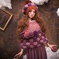 Ручной Шапочка и Перчатки Зима Теплая Густая Шапка Вязаная Шапка Шапки
