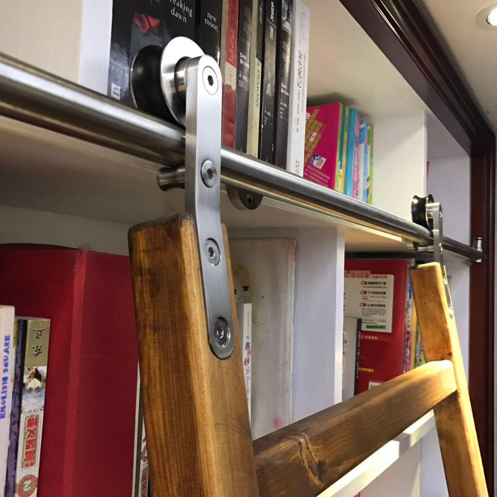 DIYHD 6FT-16FT Stainless Steel Sliding Library Ladder Hardware(No ladder)