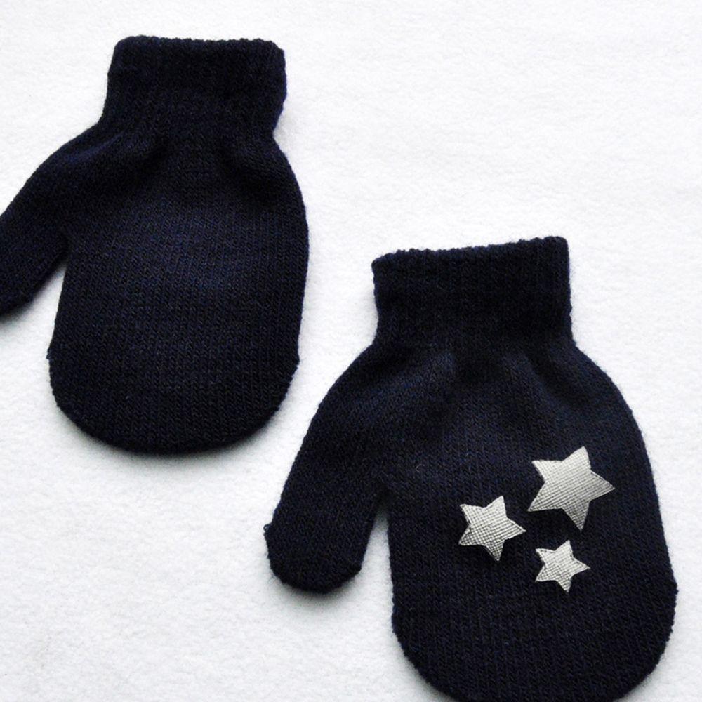1 пара милых перчаток в горошек со звездами и сердечками для мальчиков и девочек, мягкие вязаные теплые перчатки для детей