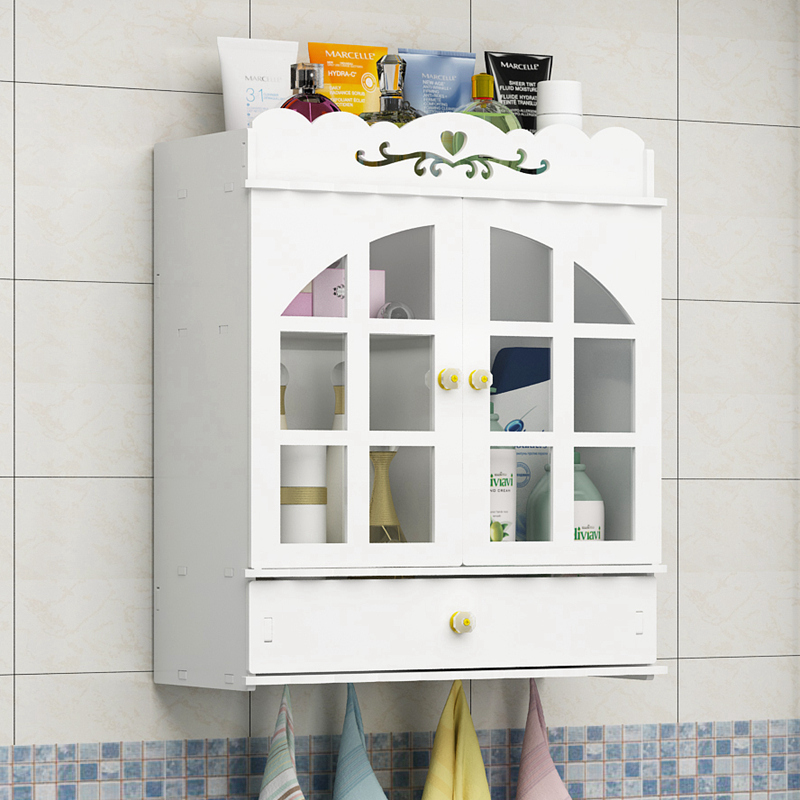 Bathroom Bathroom Cabinets Shelf Wall-mounted Perforated Toilet ...