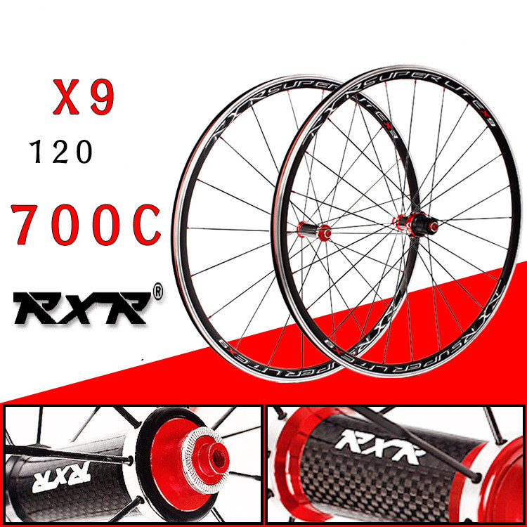 цены 2018 HOT Sale 700C Carbon Drum Wheels bmx Road Bicycle Wheel V Brake Aluminium Road Wheelset Bicycle Wheels