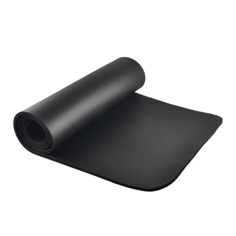 10mm Thick NBR Rubber Yoga Mat Beginners Fitness Pilates Flexible Anti-slip Exercise Pad ...