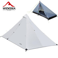 Outdoor Camping Tent Without Rod Tent Ultra Light Portable Double Layers Waterproof Hiking Tent 1 45kg