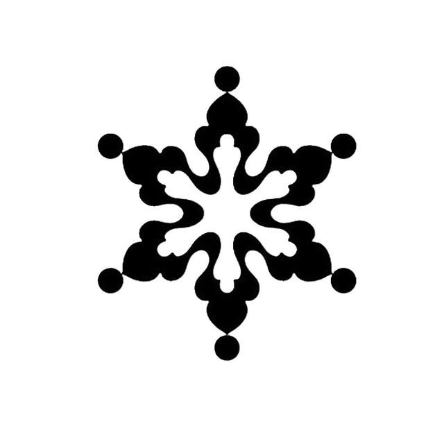 15cm15cm Christmas Snow Beautiful Car Stickers Exterior Accessories