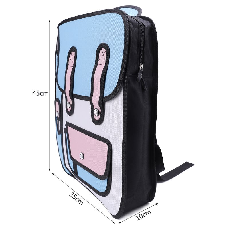 Backpacks Thinkthendo Backpacks 3d Jump Style 2d Drawing From Cartoon Paper Backpack Shoulder Bag Comic Bookbag Bags For