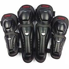 4 pc/s protezioni per ginocchiere e gomiti per motociclette protezioni per ginocchia da pattinaggio per Motocross protezioni per cuscinetti protettivi
