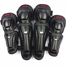 Joelheira protetora para motocicleta, 4 unidades/cotoveleira, para motocross, patins, equitação, equipamentos de proteção
