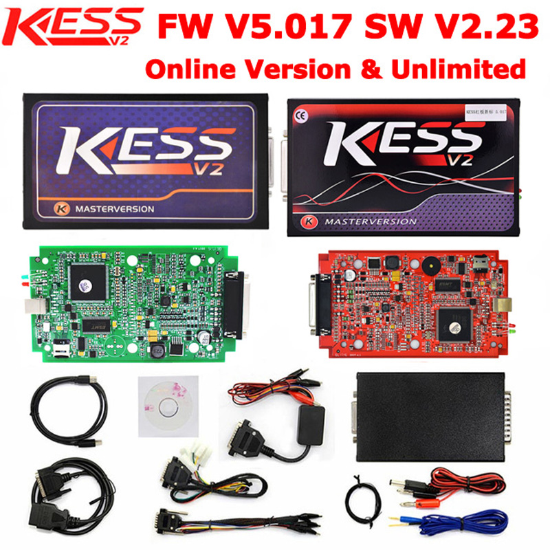 KESS 5.017 V2.23 MASTER OBD2 Tuning Kit Online Version KESS V2 V5.017 No Token Limitation ECM Titanium ECU Chip Tuning Tool kess newest v2 28 obd2 tuning kit kess v2 fw4 036 sw2 28 ecu chip tuning tool free ecm titanium software free ship