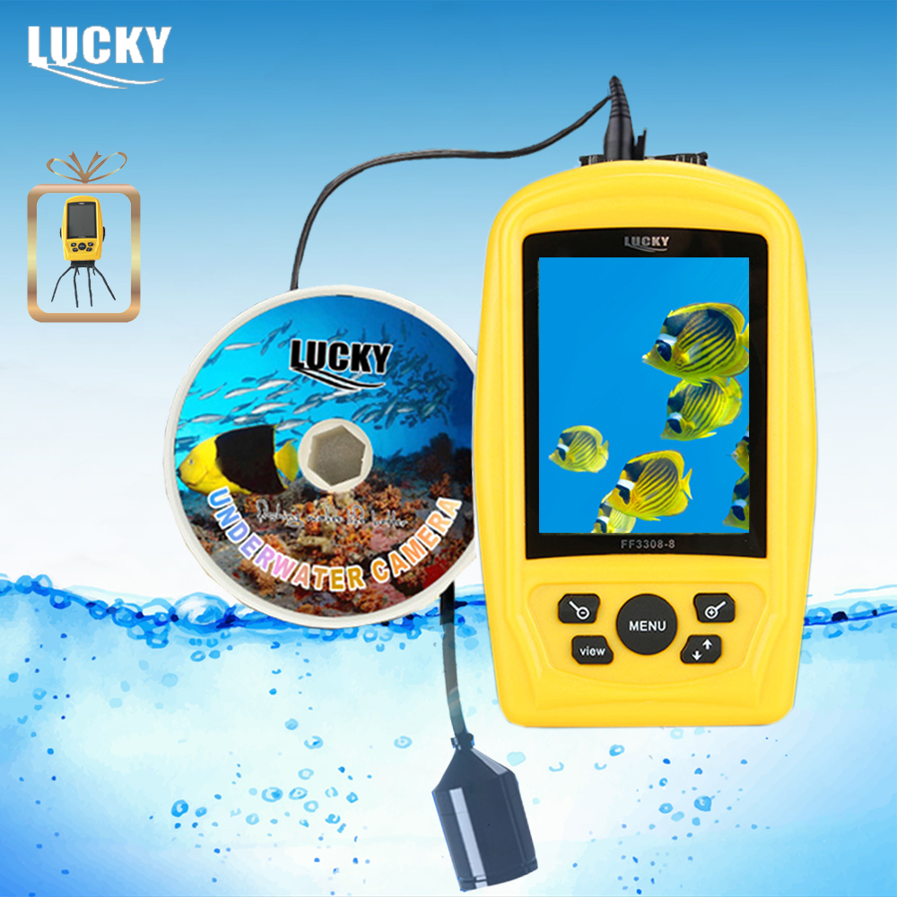 LUCKY FF3308-8 Portable Underwater Camera Fishing Inspection System CMD sensor 3.5 inch TFT RGB Waterproof Monitor 20M Cable #B9 EYOYO