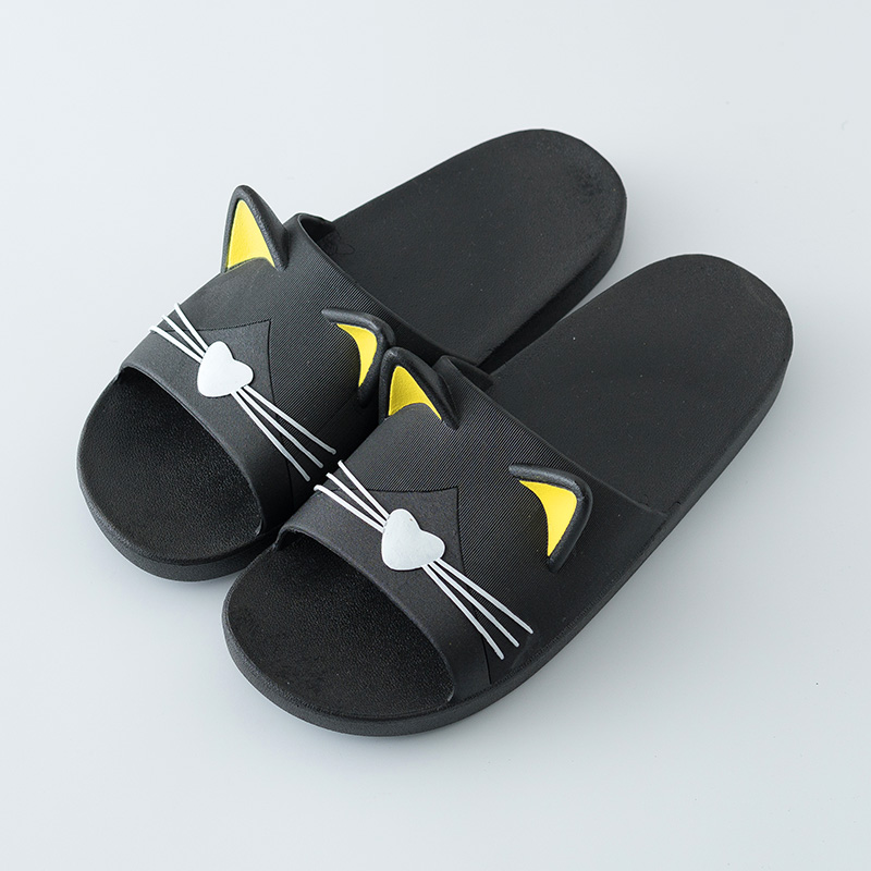 cc1bc6ce37d2 Summer Women Slippers Cute Cartoon Cat Indoor Bathroom Animal Slipper  Couples Slides Designer Flip Flops ...