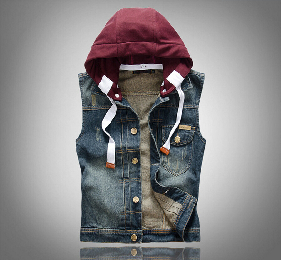 Jean Vest Jacket For Men - Coat Nj