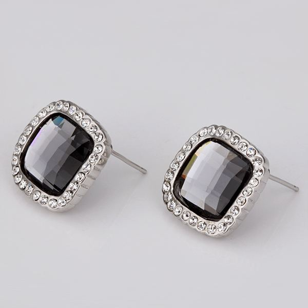 Best Friends fashion jewerly women jewelry gold color Earing black square stud earrings for women brincos SMTPE057
