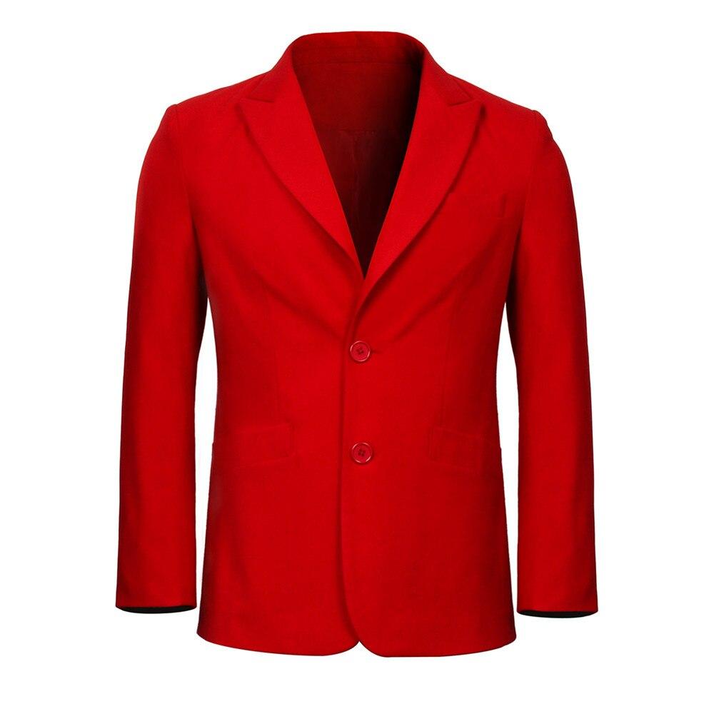 Image 5 - 2019 Joker Origin Movie Cosplay Joaquin Phoenix Arthur Fleck Costume Batman The Joker Uniform Red Suit Halloween Men Outfit-in Movie & TV costumes from Novelty & Special Use