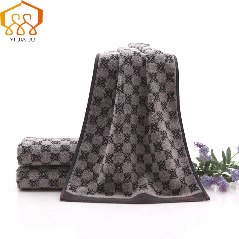 New Arrival Lucky Grid 100% Cotton Dark Thicker Face Towel Super Soft Absorbent Washcloths For Adults Fast Drying Bath Towel