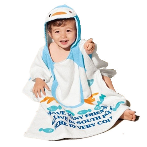 Hot sale 100 cotton baby beach gown child bathrobe beach towels baby cloak cape baby bath