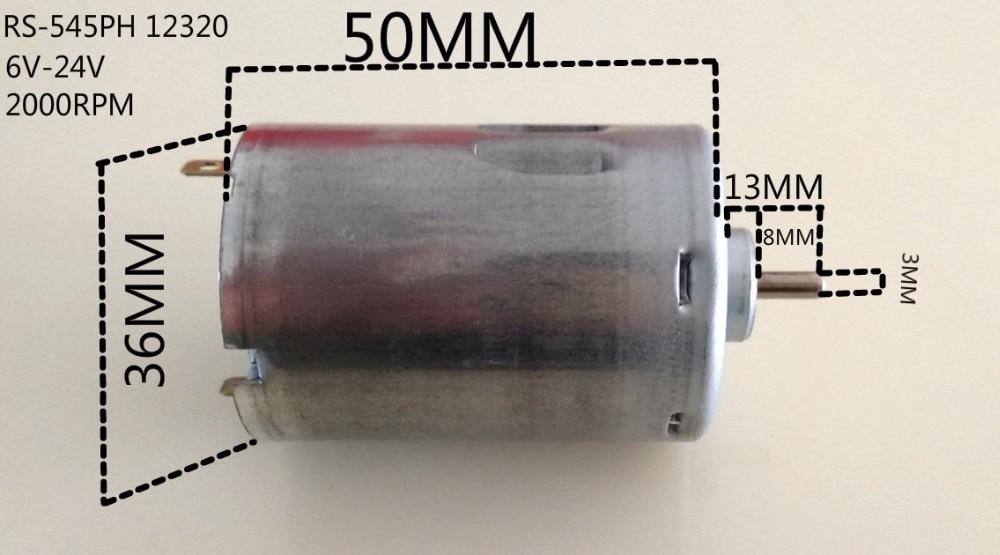 1/PCS Original RS-545PH-12320 high speed 6V~24V DC motor RMP1850-2200