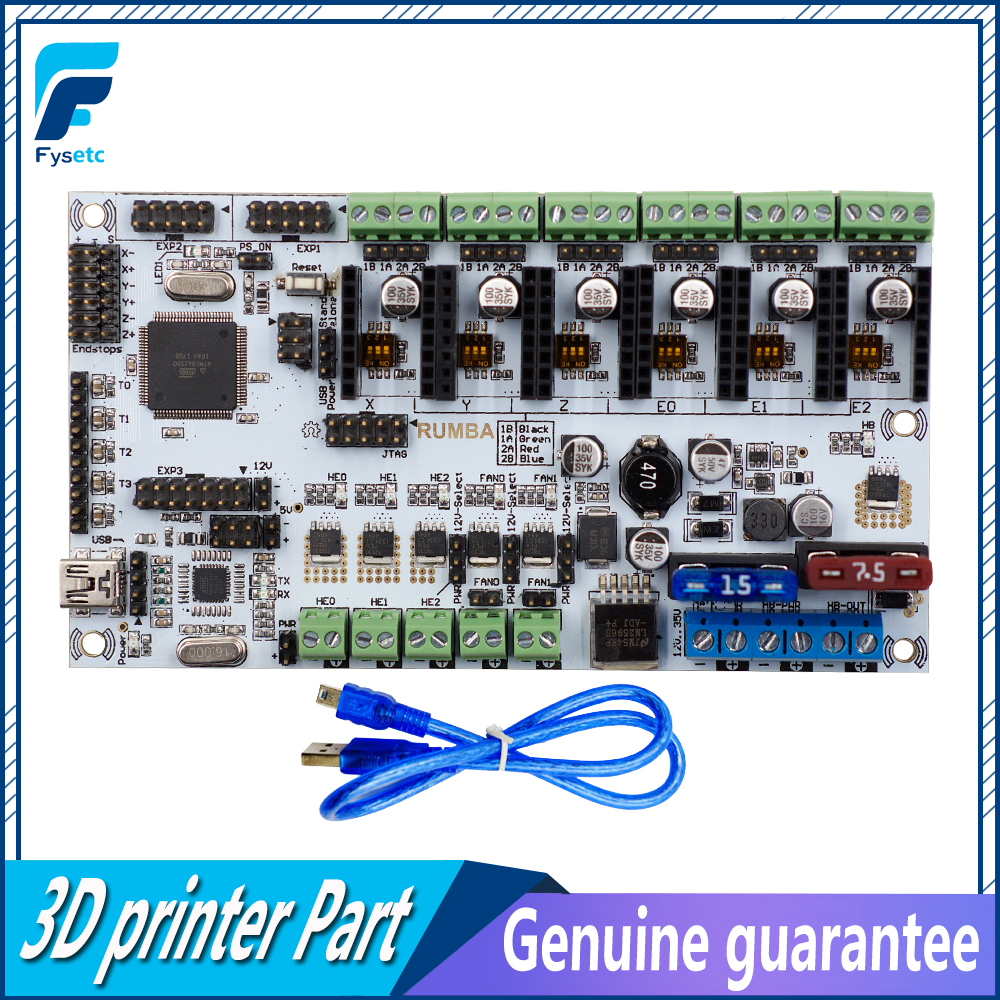 Rumba Plus For 3D Printer Start Kits Motherboard Rumba+ Board With 6pcs DRV8825 Stepper Driver &6pcs Heatsink With Free Shipping 3d printer start mother board rumba control board stepper driver 6pcs heatsink for 3d printer accessories