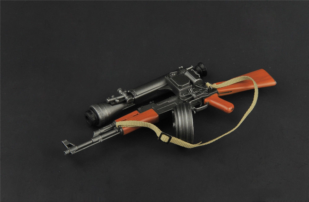 1 6 Scale TOYS ZY2007 1 6 Plastic Gun Model AK47 Weapon Toy with Knife model Accessories for 12 quot Action Figure Accessories in Action amp Toy Figures from Toys amp Hobbies