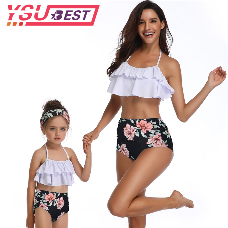 Humorous Mother Daughter Bikini Family Matching Swimsuit 2019 New 3d Floral One-piece Swimwear Mom Kid Girl Sleeveless Backless Beachwear Tops & Tees Led Grow Lights