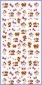 TRANSFERÊNCIA DE ÁGUA DO DECALQUE ETIQUETA DO PREGO DESENHO ANIMADO ANIMAÇÃO COELHO URSO PÁSSARO PENA YE417-422