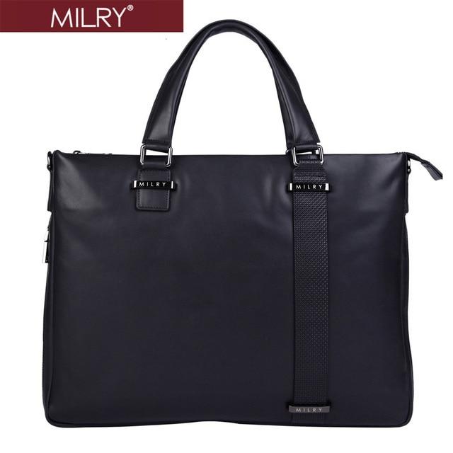 2014 new Brand MILRY 100% Genuine Leather Briefcase for men messenger bag real cowhide shoulder bag laptop bag  Cp0007-1