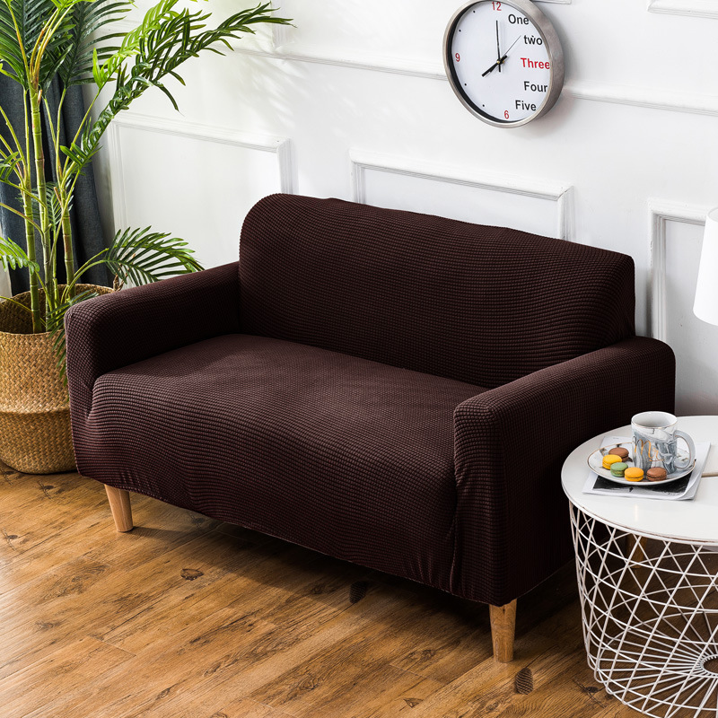 Knitted Sofa Covers For Living Room Solid Color Elastic Sofa Bed Cover Stretch Polyester Couch Sofa Towel Furniture High Quality