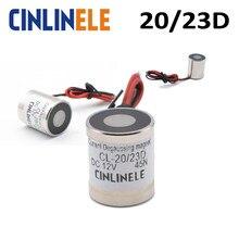 D20mm * H23mm prąd rozmagnesowania elektryczny magnes magnetyczny elektromagnetyczny elektromagnes DC 12V 24V potężny ziem rzadkich
