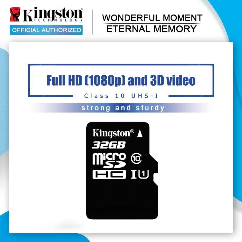 100% מקורי קינגסטון מיקרו SD כרטיס 16GB 32GB 64GB MicroSD זיכרון כרטיס Class10 TF כרטיס MicroSDHC UHS-1 עבור Smartphone