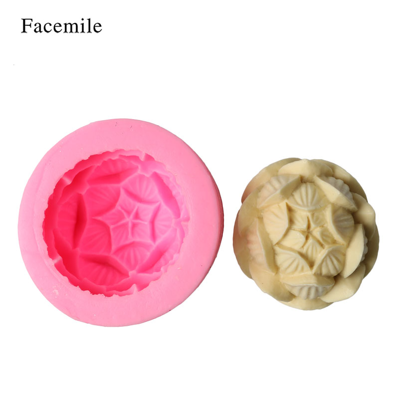 3d Lotus Flower Soap Candle Maker Silicone Mold Candy Jelly
